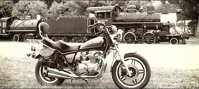 train and motorcycle