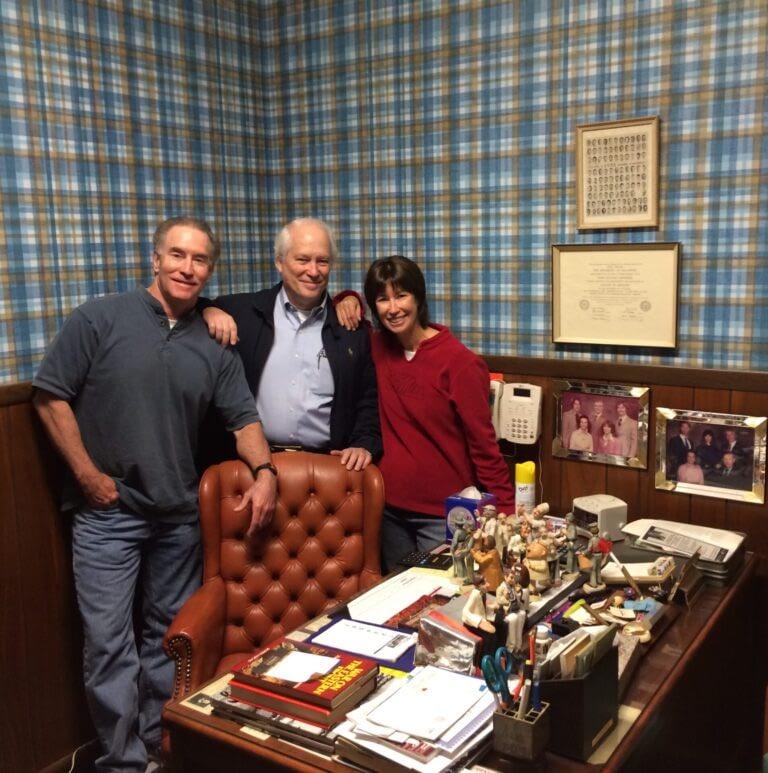 David, John and I at Dad's office