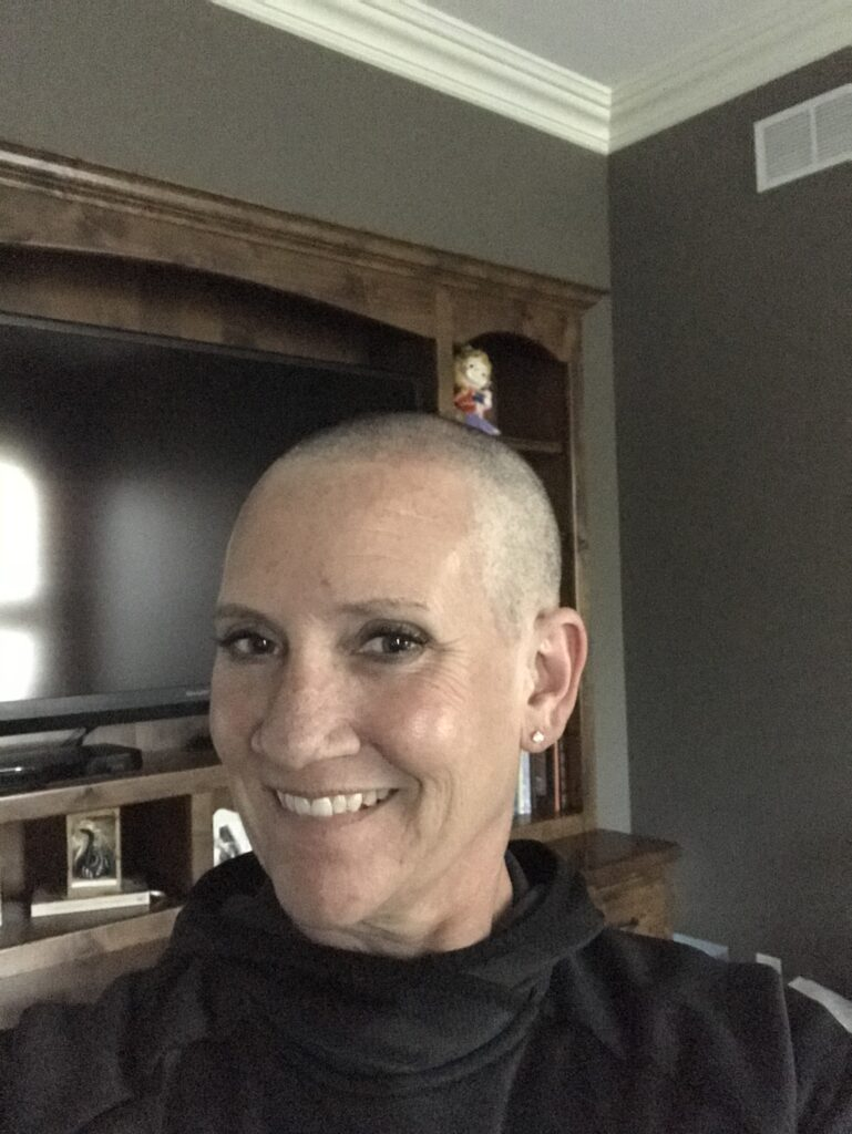 short hair after chemo